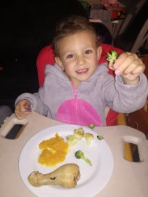 Our little healthy eating monkey